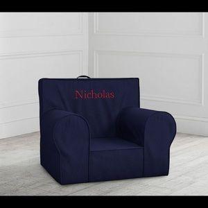 NIB Pottery Barn Kids Navy Twill Anywhere Chair